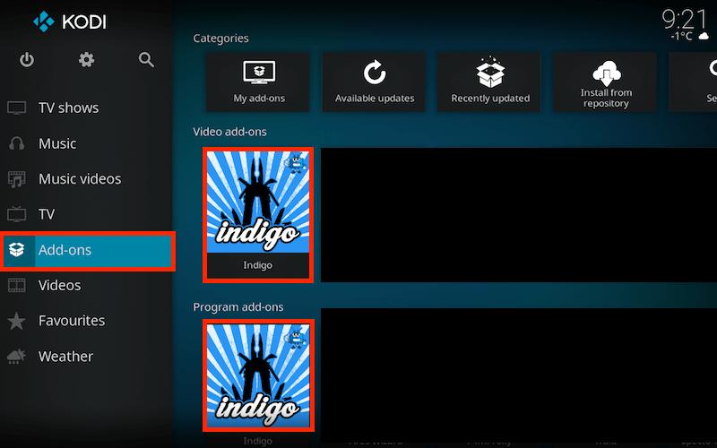 How to Install Indigo on Kodi Krypton with Visuals