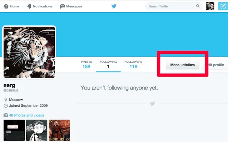 Twitter Unfollow for Chrome