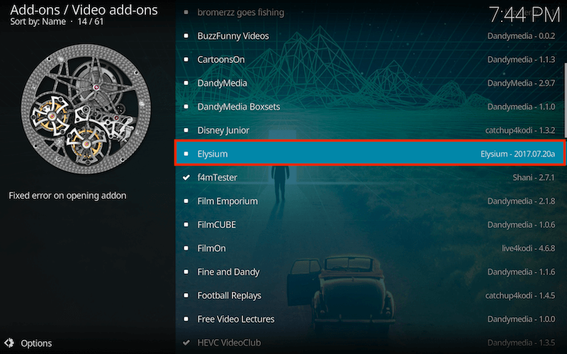 how to connect elysium to kodi after i install kodi