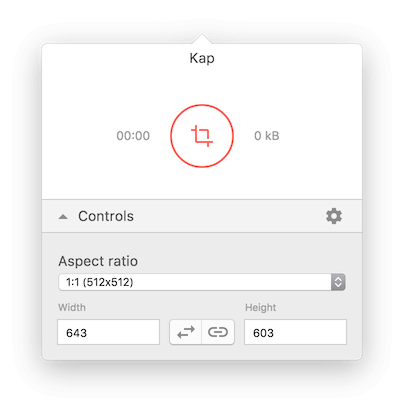 Kap open source screen recording app for macosos x from here you can select the aspect ratio which have a few preselected sizes but you can also manually set the screen size once you have your aspect ratio ccuart Images