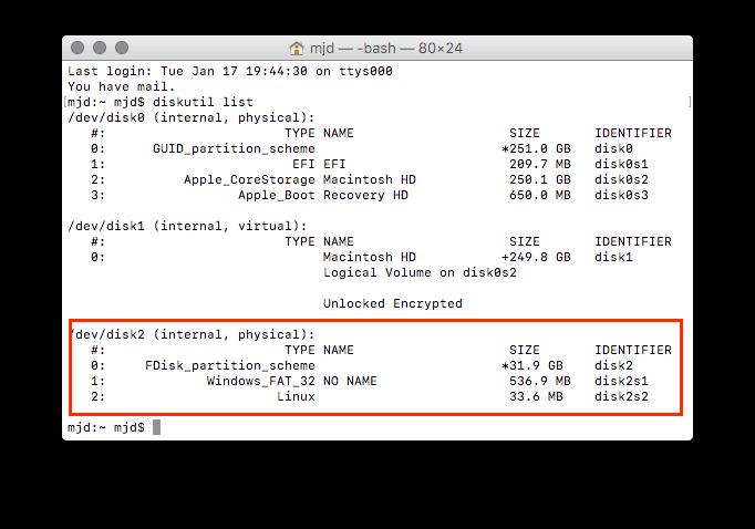 How to Install OpenELEC/Kodi on RPi 2/3 using macOS